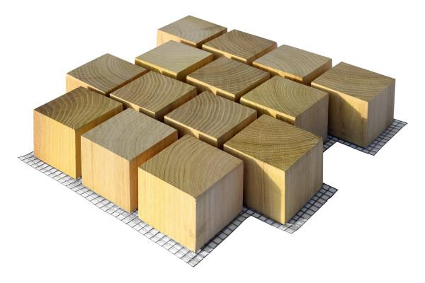 ROMEX® Holzblockpflaster Versatz